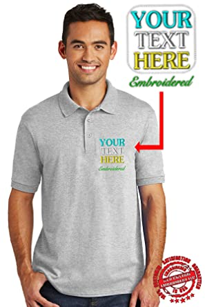 515f994edf1 Custom Embroidered Polo Shirts. Jerzees - SpotShield and Port   Company  Core Blend Pique Polo