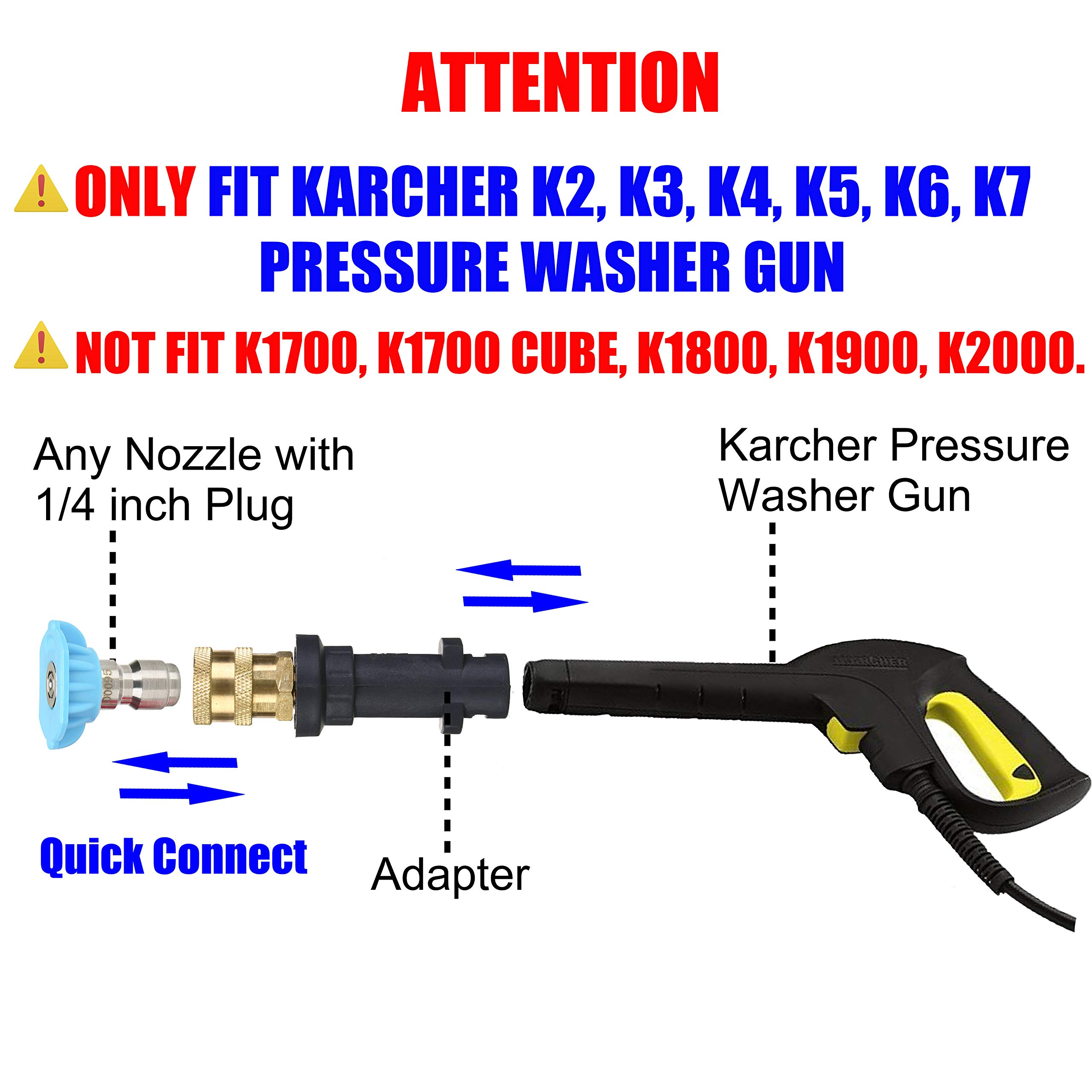 1//4/'/' Quick Connect Pressure Washer Spray Nozzles For Karcher K Series Accessory