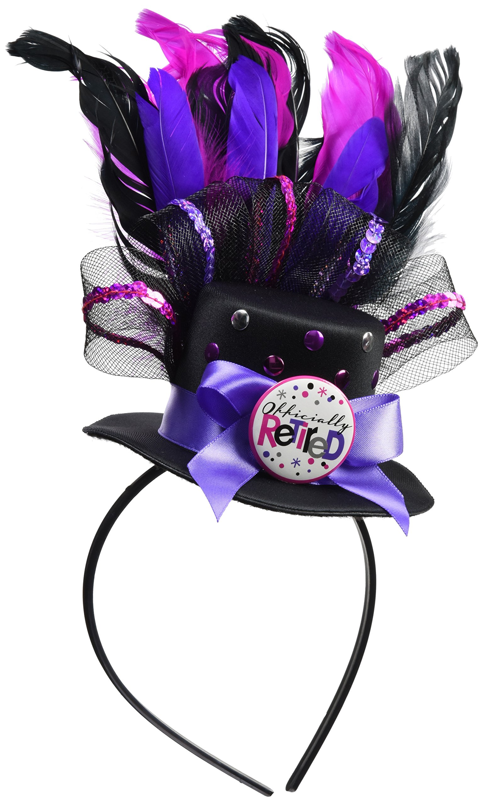 Amscan ''Officially Retired'' Party Headbands, 11'' x 9.75'', 3 Ct.
