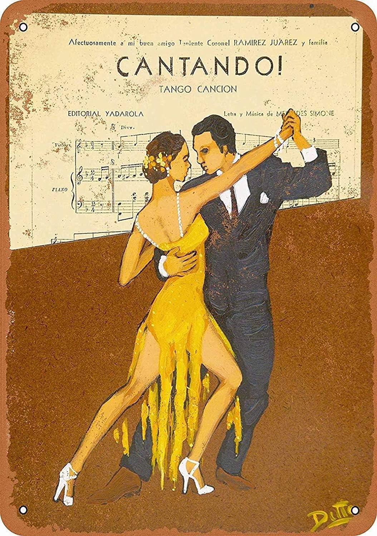 Signo de pared de metal Tango Danza