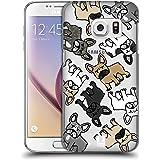 Head Case Designs Französische Bulldogge Hunderasse Muster Ruckseite Hülle für Samsung Galaxy S7