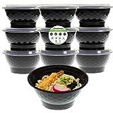 Freshware 餐具盒 [10 件装] 带盖碗,食品储存便当盒 不含双酚 A x20AC;可堆叠 x20AC;微波炉/洗碗机/冰箱;*分量控制,21 天固定装置(42盎司)