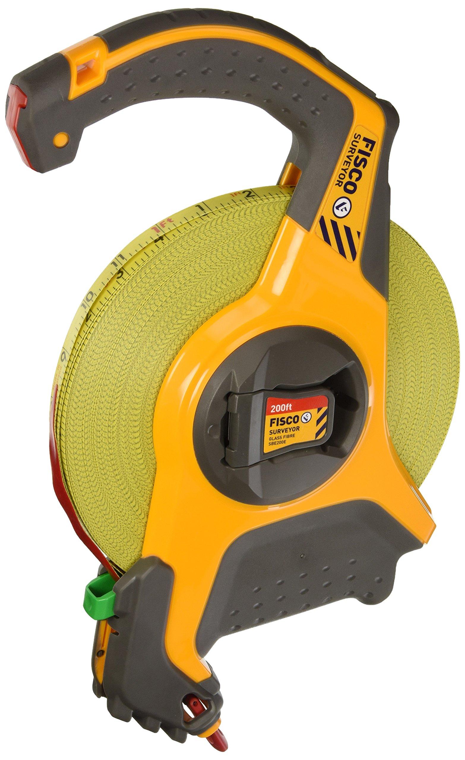Fisco Tools SBE200E Engineer-Feets Fiberglass Long Tape, 1/2-Inch by 200-Feet