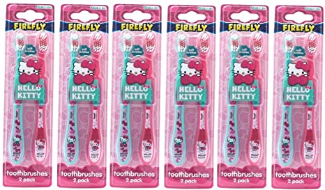 Cepillos de dientes deHello Kitty para el cuidado dental, paquete doble (12