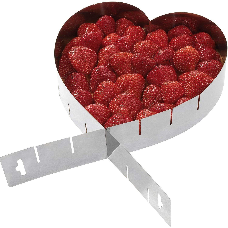 1 pezzo struttura in acciaio inox Acciaio INOX Tamaku Cornice per torta a forma di cuore