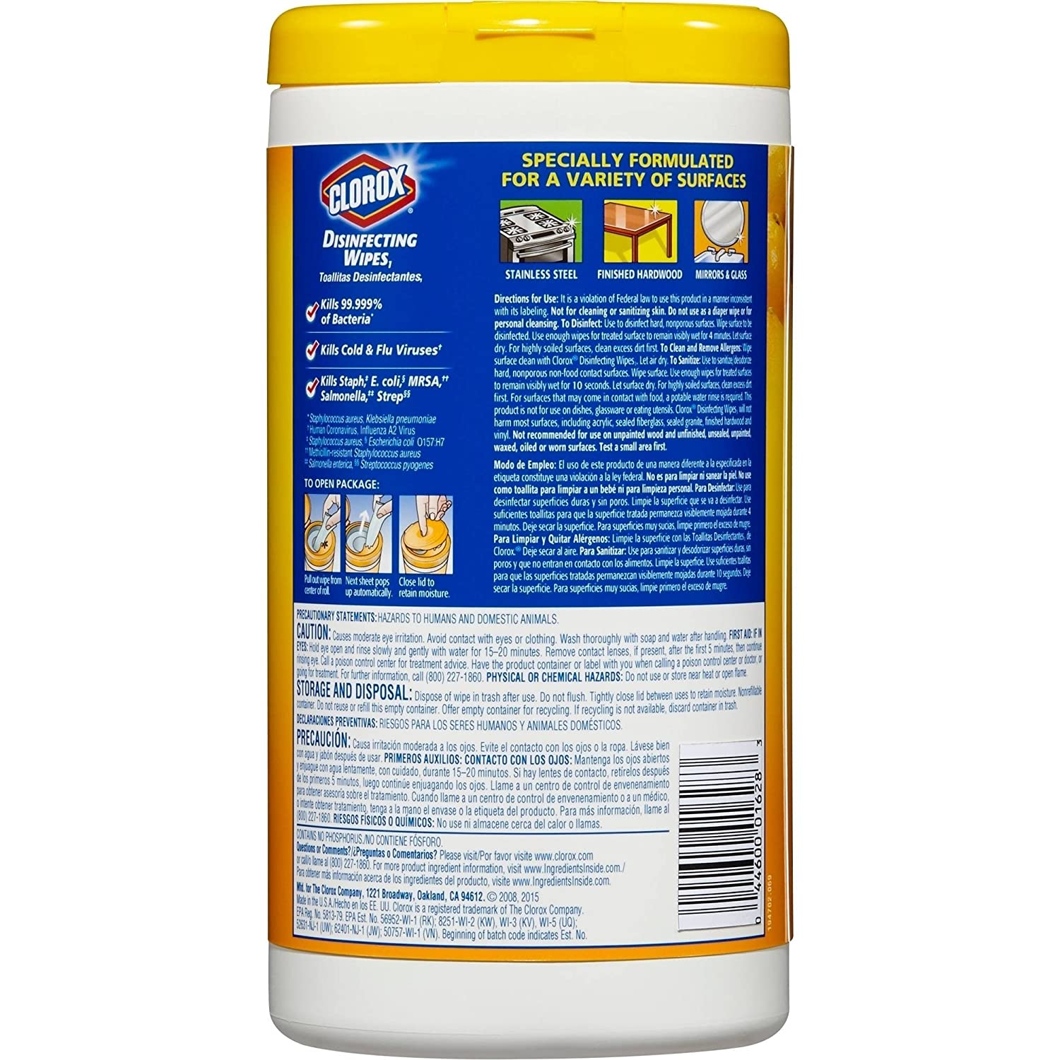 Amazon.com: Clorox Disinfecting Wipes, Citrus Blend, 75 Count, Pack of 3: Home & Kitchen