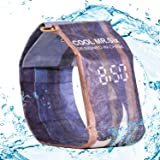 THSpow Digital Wrist Paper Watch Paper Waterproof Watch Super Light Durable with Magnetic Watch Band for Men,Women,Girls,Boys etc Colorful (Blue)