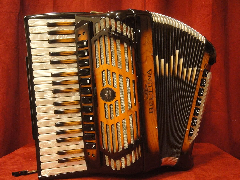 Nueva beltuna Piano acordeón líder IV Compact doble tono ...