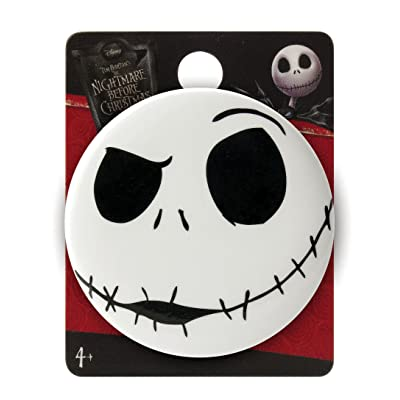 Nightmare Before Christmas Jack Angry Single Button Pin: Toys & Games