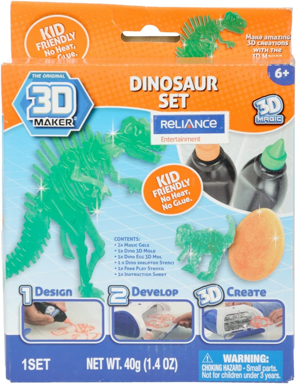 3D Maker Dinosaur Expansion Pack by 3d Magic: Amazon.es: Juguetes y juegos