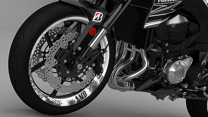 Onewheel Felgenrandaufkleber Motorrad 4er Komplett Set 17 Zoll Don T Quit Schwarz Weiß Glänzend Auto