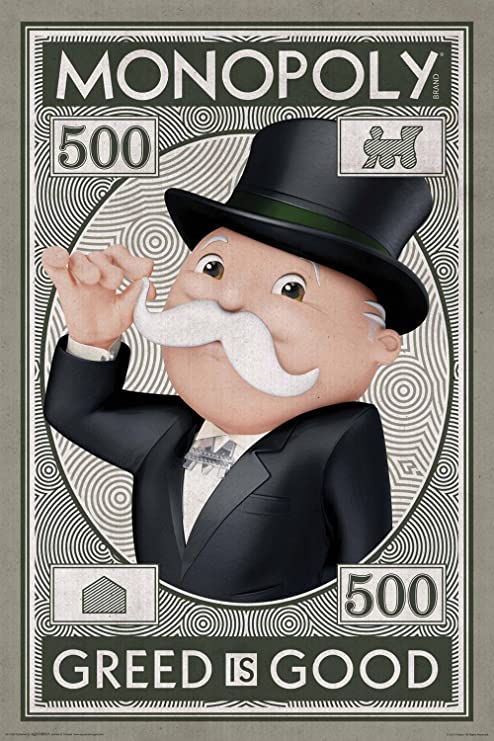 Acuarius Monopoly - Póster de dinero, 61 x 91 cm: Amazon.es: Hogar