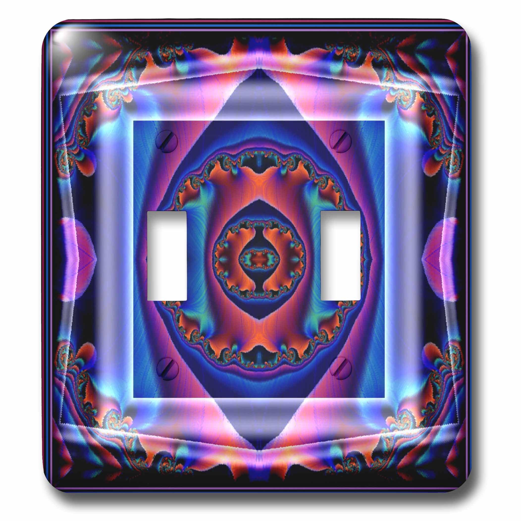 3dRose lsp_26762_2 Mandala Blue Meditation Orient India Inner Harmony Peace Chakra New Age Spirituality Flower Power Double Toggle Switch