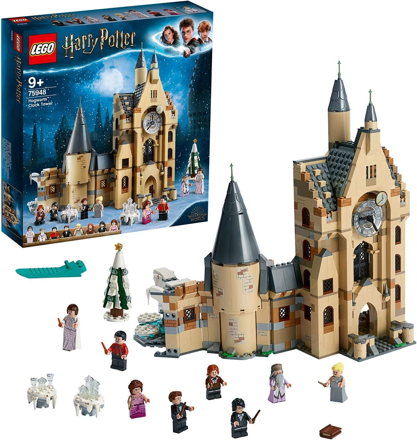 Lego 75948 Harry Potter Hogwarts Clock Tower Toy Compatible With The Great Hall And The Whomping Willow Sets Amazon De Spielzeug
