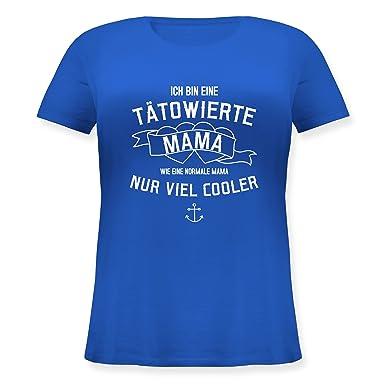 Muttertag - Ich Bin eine Tätowierte Mama - S (44) - Blau - JHK601