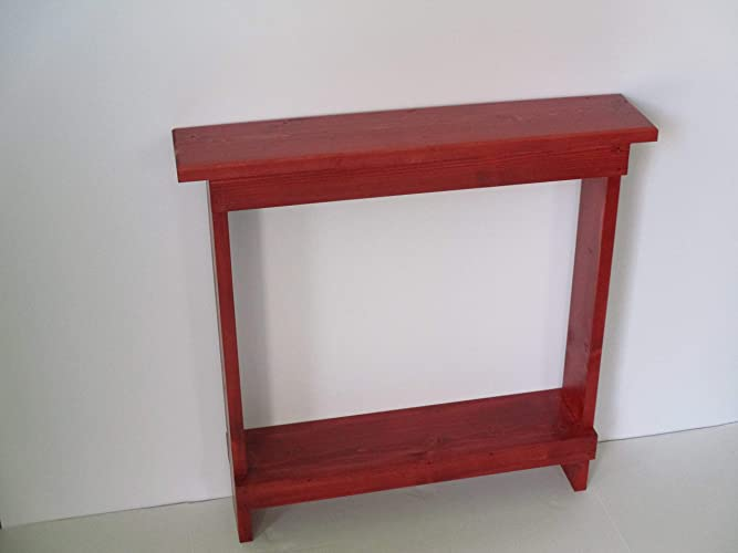 Small Accent Table Skinny Side Narrow End TableEntryway Wood