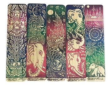 Amazon.com: 5pcs Exótico Color Dibujo Tailandia Elefante y ...