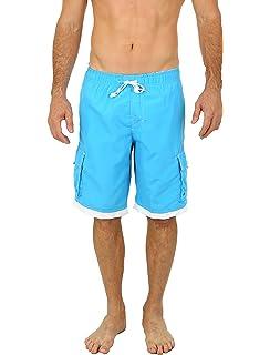 Amazon.com: uzzi largo Cargo elástica pantalones cortos de ...