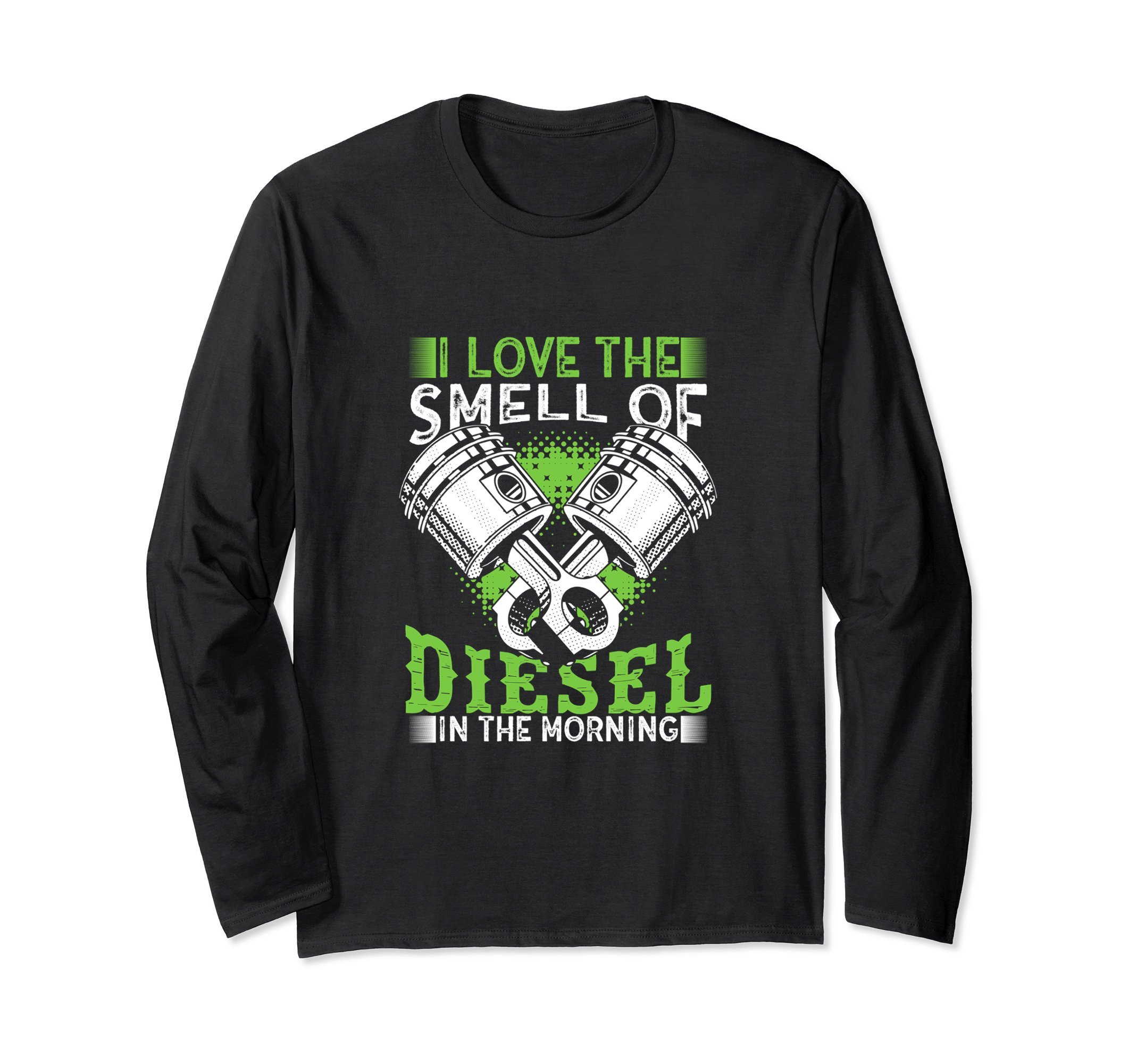 Unisex I Love the Smell of Diesel in the Morning Truck Driver Shirt XL: Black