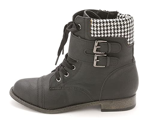 Jency Women Round Toe Synthetic Ankle Boot