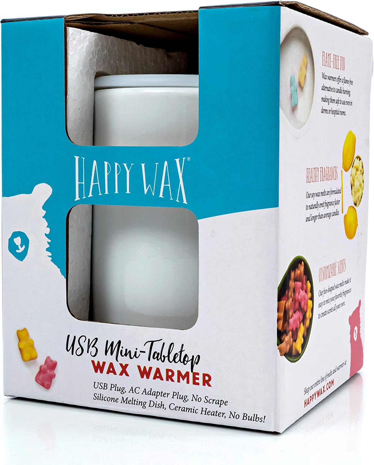 Happy Wax New Mini Tabletop Wax Warmer In White Without Ac Adapter Amazon Co Uk Health Personal Care