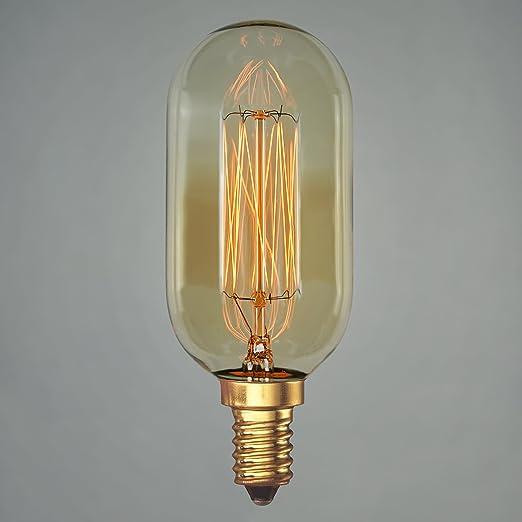 Bombilla vintage de 40 W Edison – Válvula pequeña E14 estilo radio ...