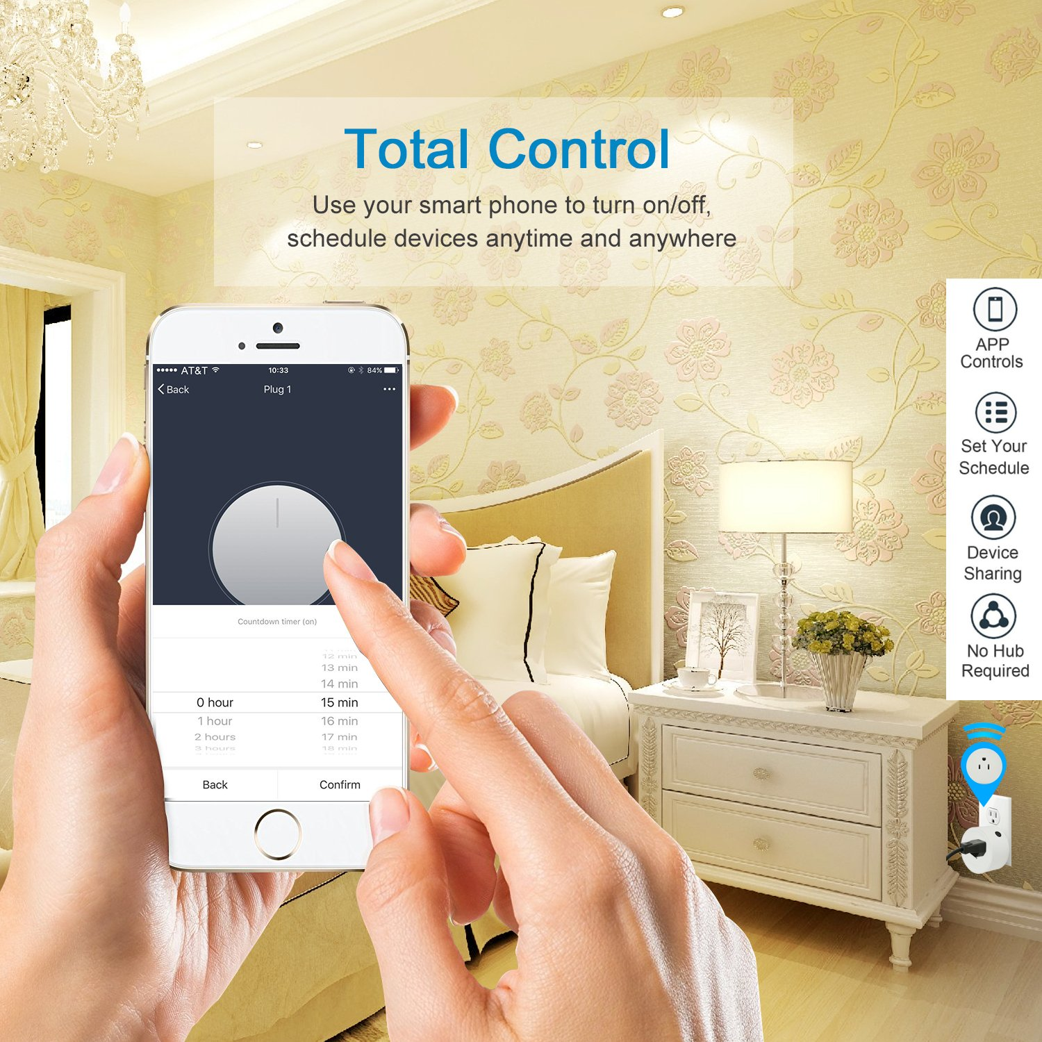 Martin Jerry mini Smart Plug Compatible with Alexa, Smart Home Devices Works with Google Home, No Hub required, Easy installation and App control Smart Switch On / Off / Timing (Model: V01) (2 Pack) by Martin Jerry (Image #5)