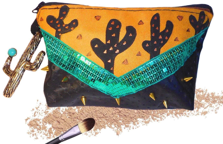 Trousse à maquillage ethnique boho chic ponpom