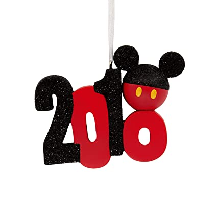 dbacaac6b Image Unavailable. Image not available for. Color: Hallmark Christmas  Ornament 2018 Year Dated, Disney Mickey Mouse ...
