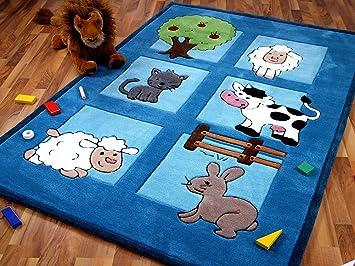Sofort Lieferbar !!! Lifestyle Kinderteppich Spielwelt Blau in 4 Gr/ö/ßen !!