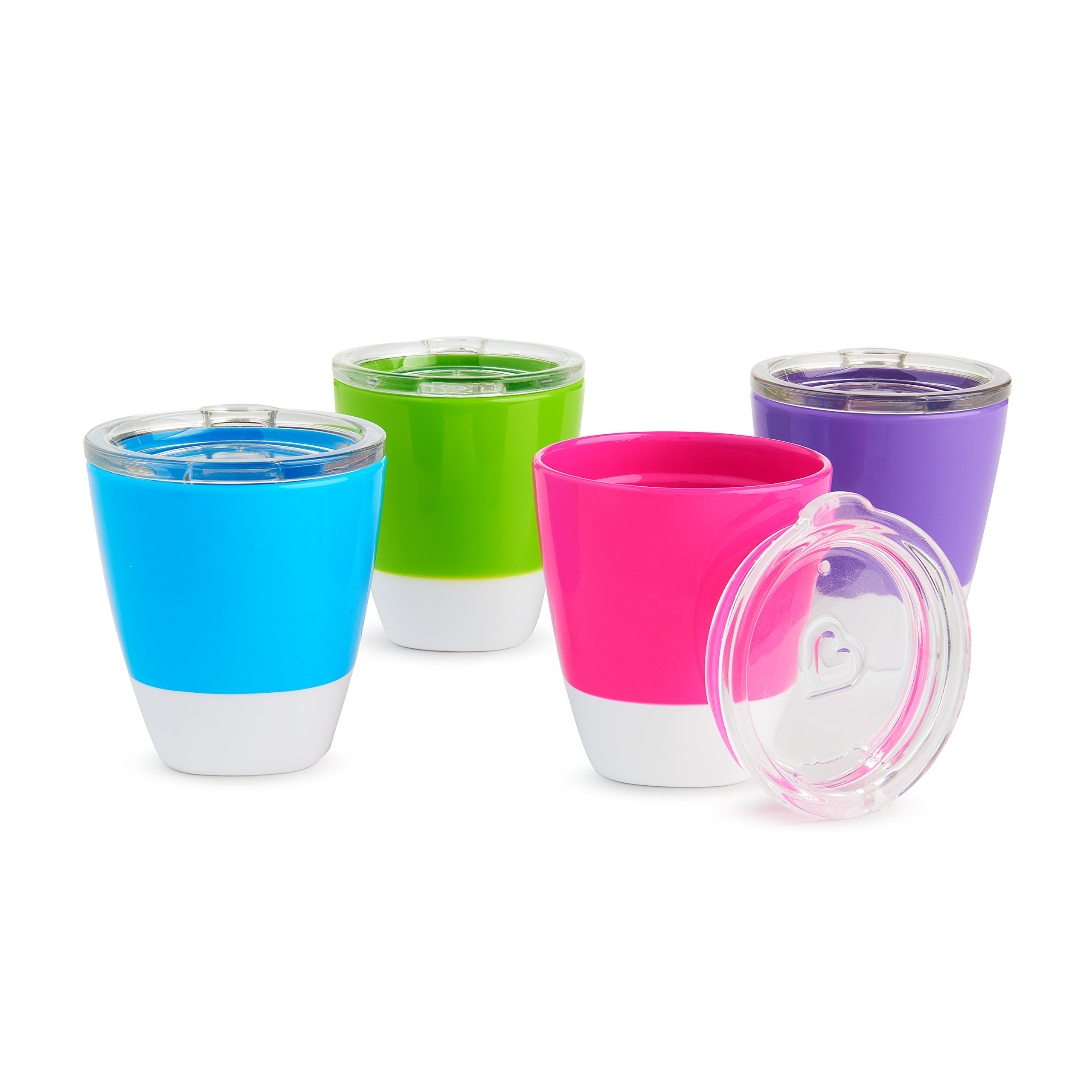 Munchkin Splash Toddler Cups with Training Lids, 7 Ounce, 4 Pack