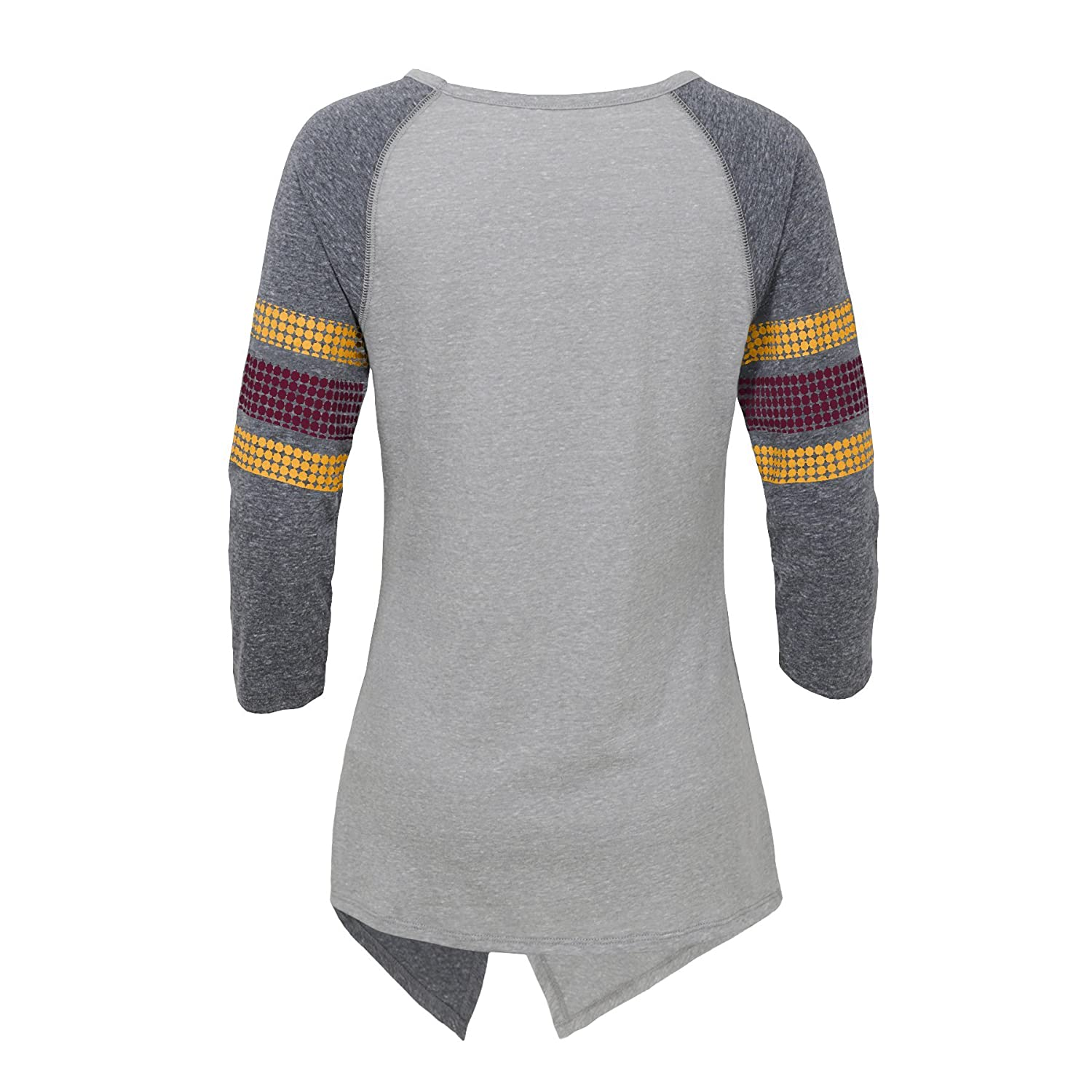Heather Grey Juniors Medium 7-9 Outerstuff NFL Washington Redskins Juniors Lavish Crossover Asymmetric Hem Top