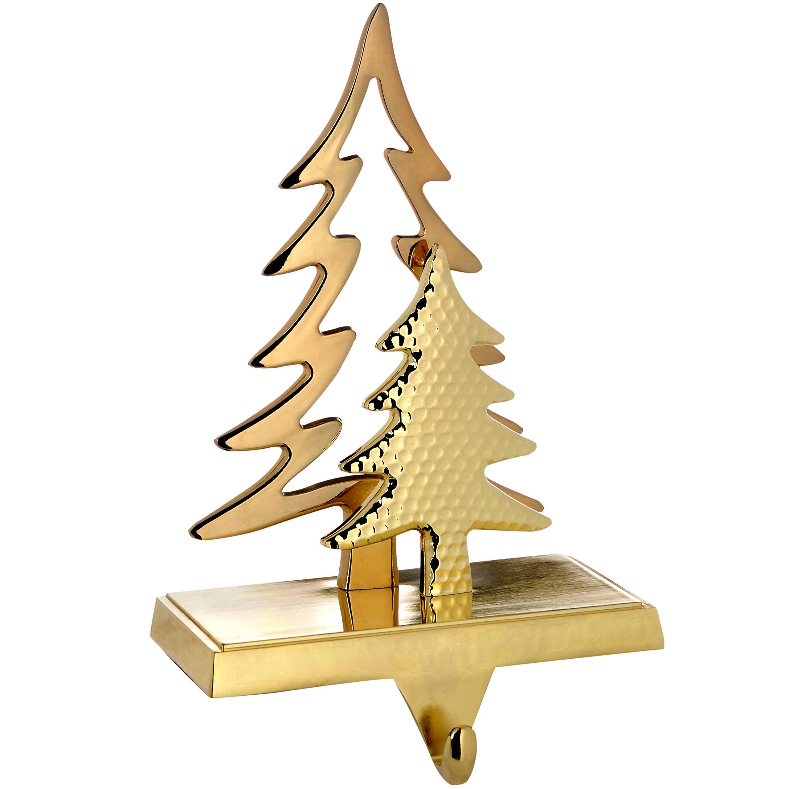 WeRChristmas Gold Plated Christmas Tree Stocking Holder Decoration, 18 Cm, Metal
