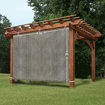 EZ2hang Outdoor Shade Cloth New Design Vertical Side Wall Panel for Patio/ Pergola/Window - Amazon.com: EZ2hang Outdoor Shade Cloth New Design Vertical Side