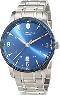 Victorinox Swiss Army Alliance Mens Blue Dial Stainless Steel Swiss Watch - With Knife 241711.1