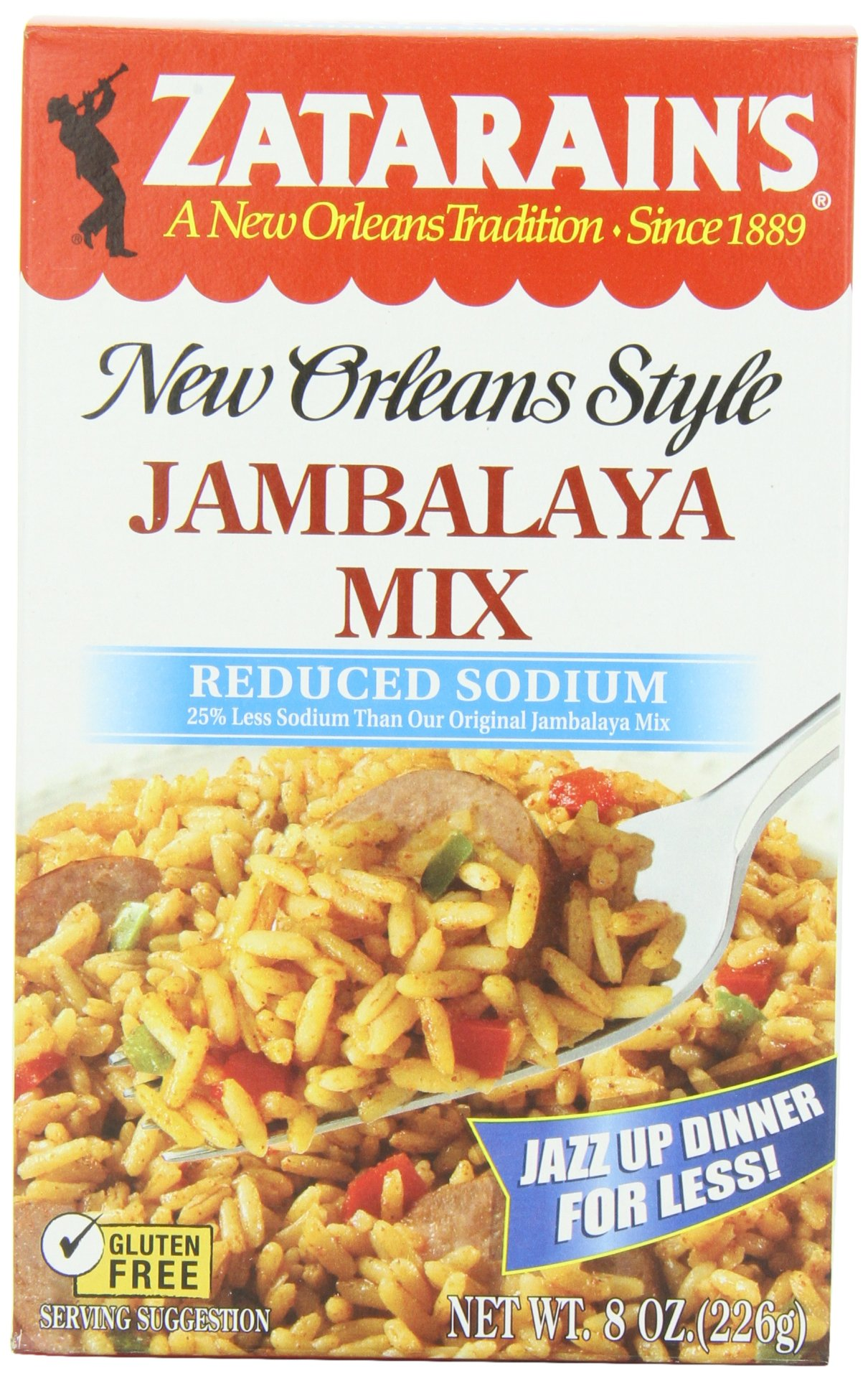 ZATARAIN'S Reduced Sodium Jambalaya Mix, 8-Ounce (Pack of 6)