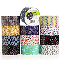 Deals on 12 Pack Simply Genius Patterned and Colored Duct Tape