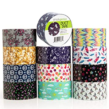 Amazon.com: Simply Genius - Paquete de 12 rollos de cinta ...