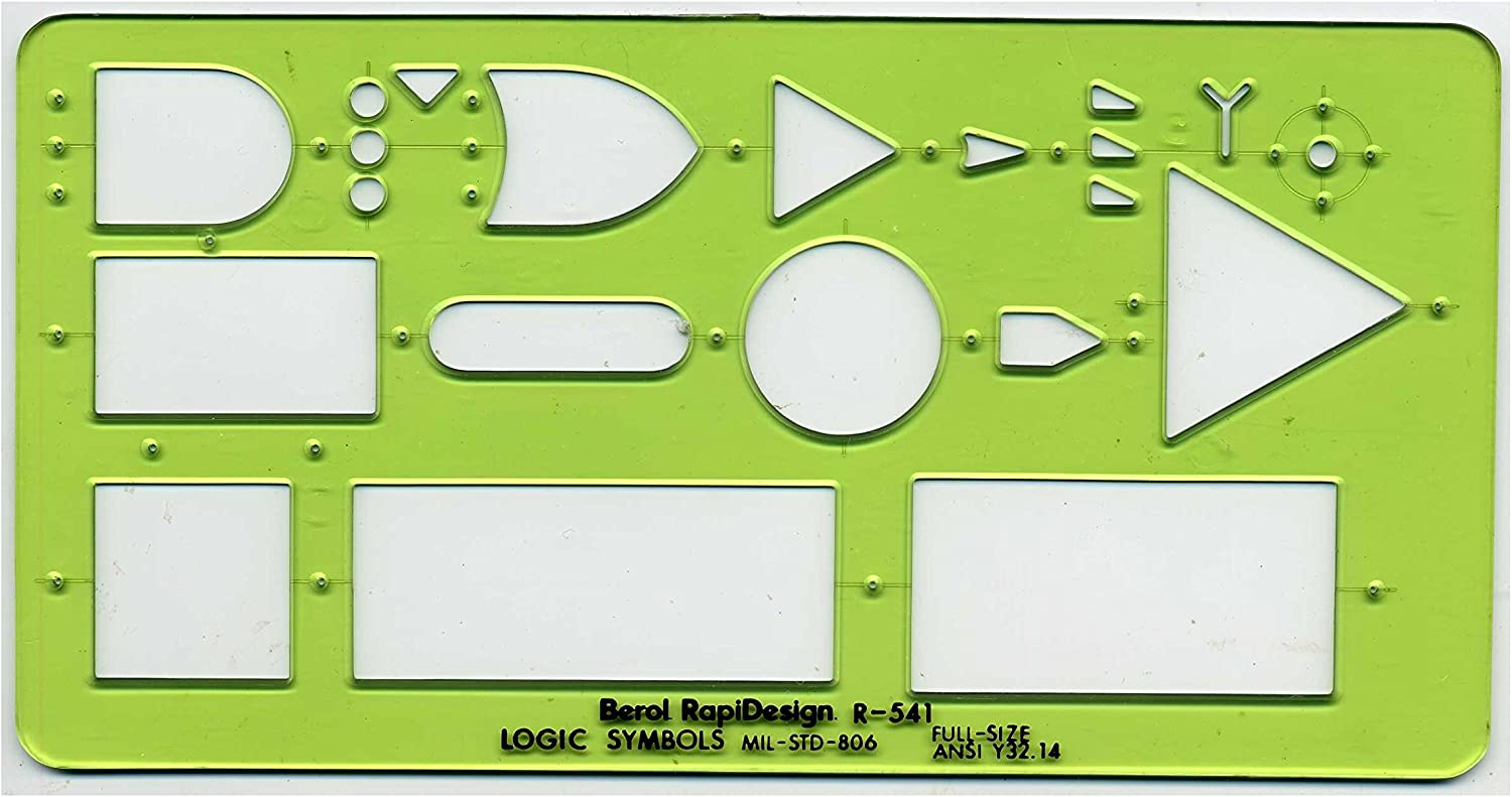 Large Lettering Aid R-924 Berol Rapidesign Template