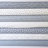 Always Knitting & sewing - Notepad SIlver grey Blender fabric bundles by Windham Fabrics 100% cotton (size: 25cm x 25cm bundle)