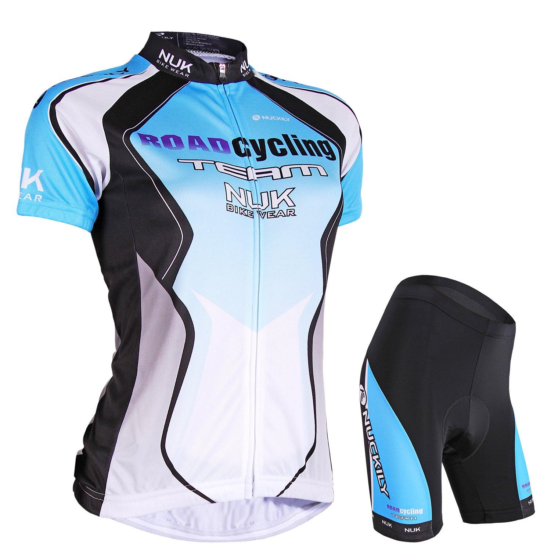 Nuckily Damen-Fahrradtrikot Fahrrad Sublimated Jersey und dehnbar, mit Gel gepolstert kurz Anzug LTD