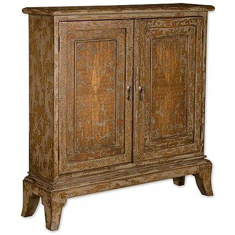 uttermost 25526 maguire distressed console cabinet amazon com  uttermost 25526 maguire distressed console cabinet      rh   amazon com