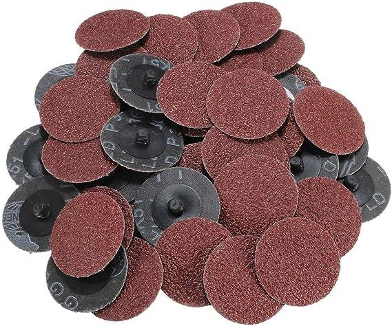 50Pcs 36 Grit 2 50mm Roll Lock Sanding Grinding Abrasive Discs Polishing Pad AU
