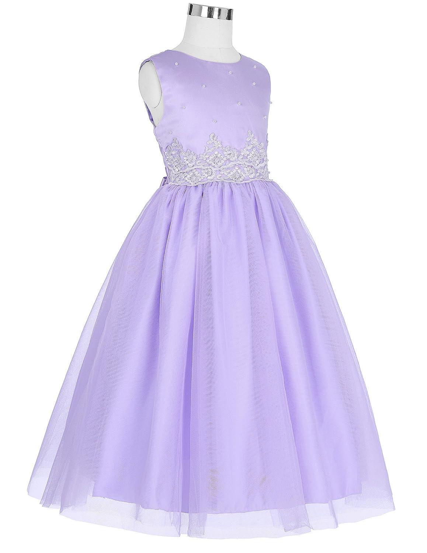 Grace Karin Niñas Vestido de Princesa sin Mangas Cuello Redondo de ...