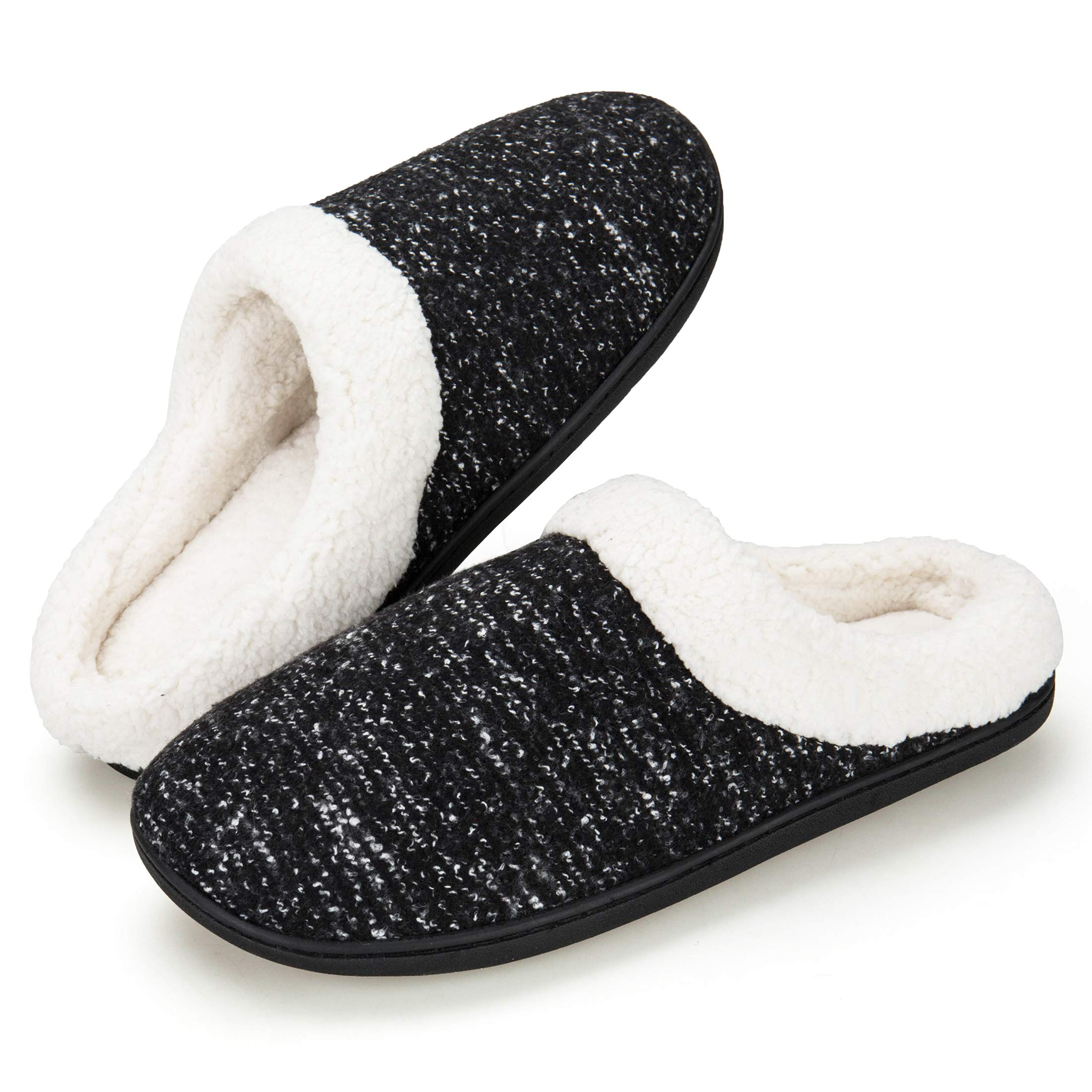 EAST LANDER Men's Memory Foam House Slippers Washable Anti-Slip Slippers Indoor Shoes ELMT001-M1-L