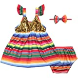 Fiesta Dress Bloomer Headband Mexican Cinco de Mayo UNO 1st Birthday Cake Smash Outfit for Girl