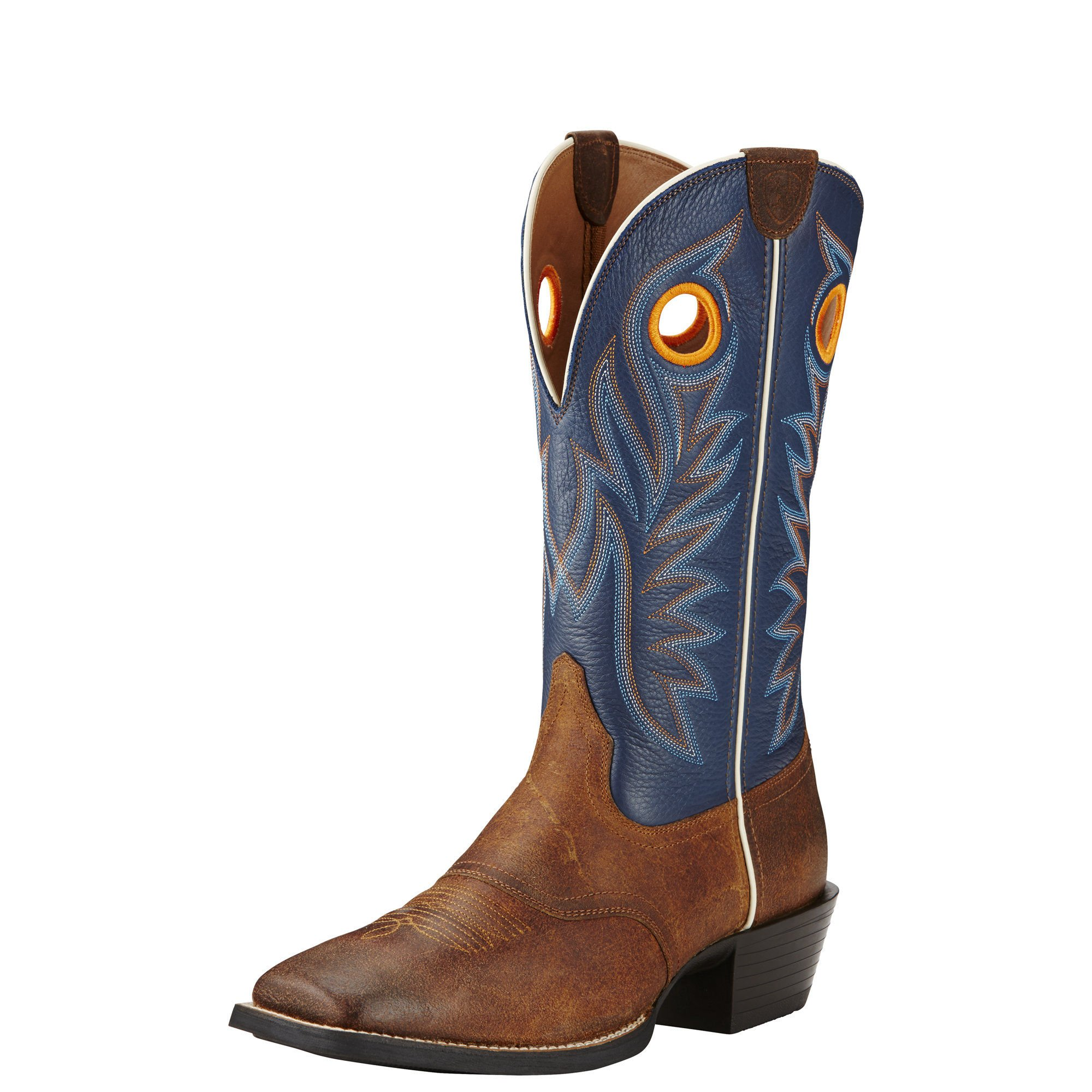 Ariat Men's Sport Outrider Western Cowboy Boot, Pinecone/Federal Blue, 8.5 D US