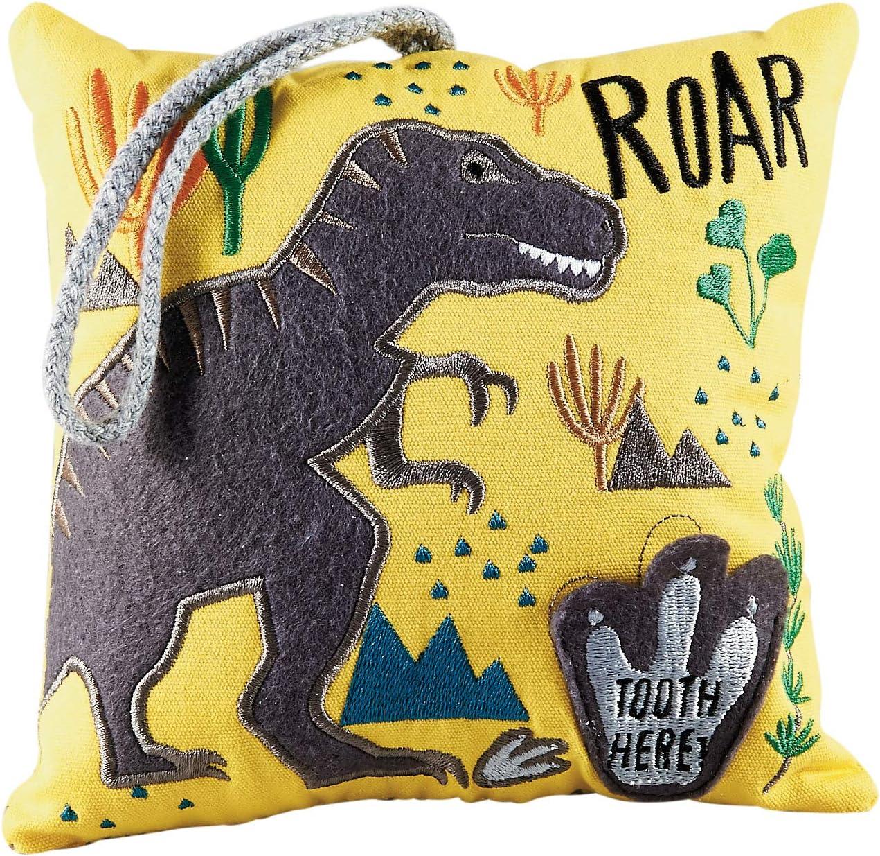 Floss /& Rock Tooth Fairy Pillow Dinosaur