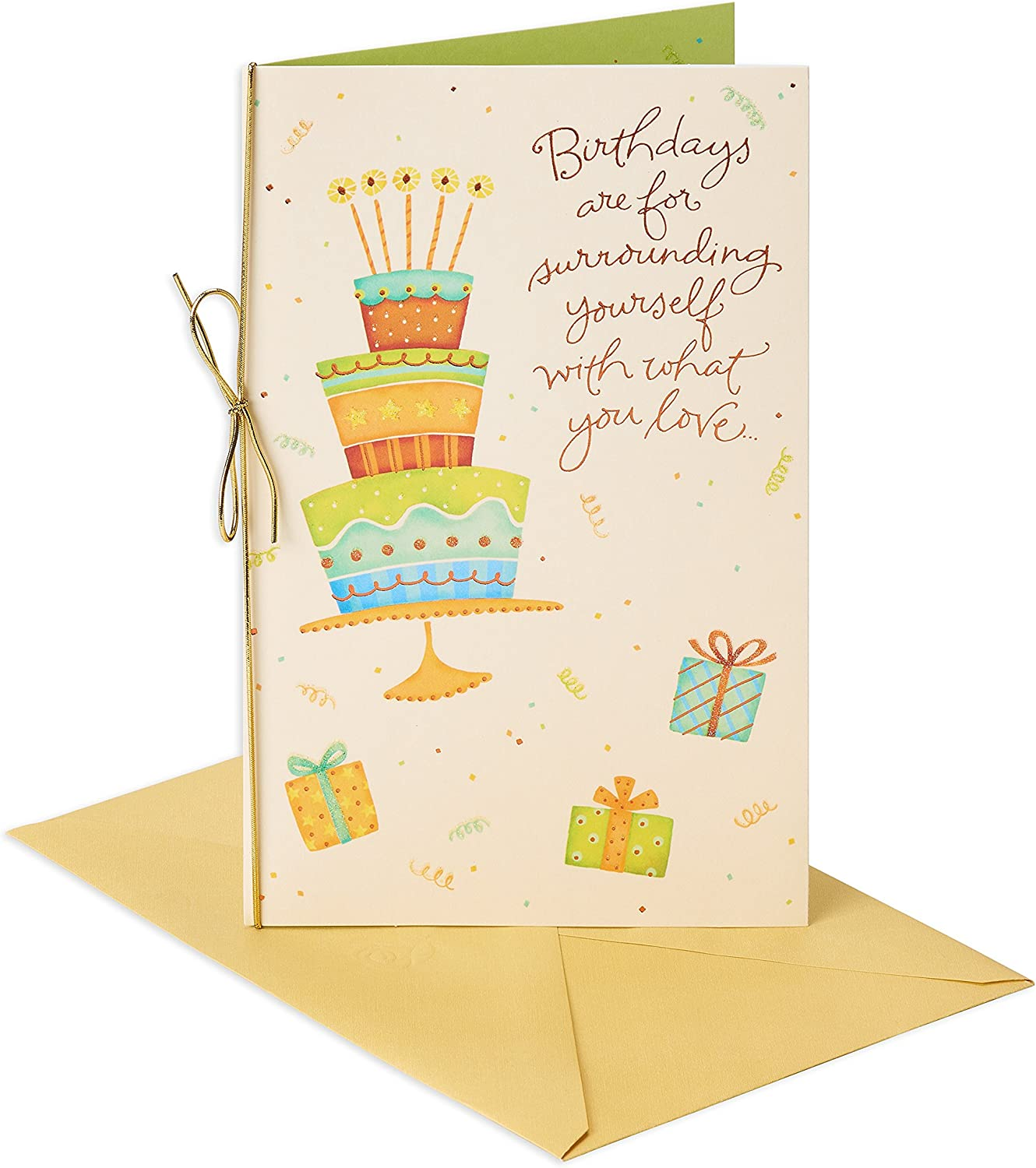 American Greetings Smile Mickey Mouse Birthday Greeting Card with Glitter and Flocking