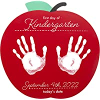 Pearhead First and Last Day of School Reversible Apple Photo Sharing Handprint Sign, Includes Non-Toxic Paint to Create…